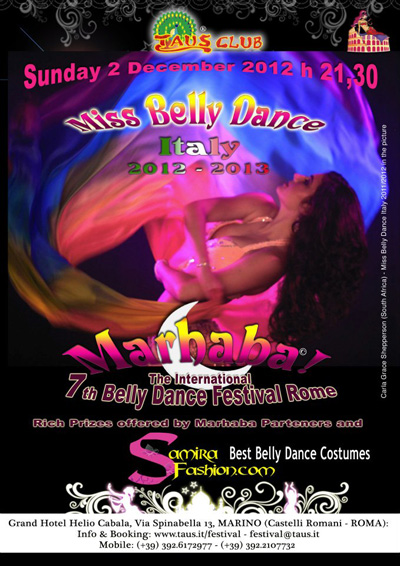 Miss Belly Dance Italy 2012 la locandina