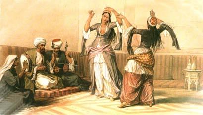The Ghawazee of Cairo by David Roberts