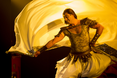 """Amir Thaleb in """"Cleopatra in Rome""""  @Marhaba! 8 ©Daniele Cinà 2013 per ladanzaorientale.com"""